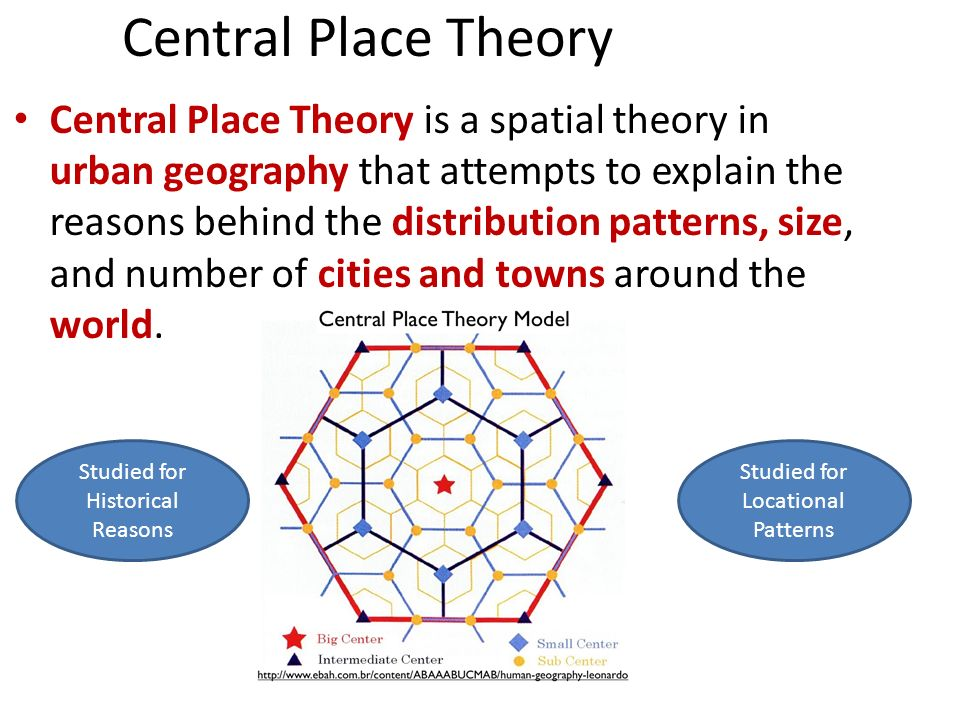 central place theory walter christaller developed the central place