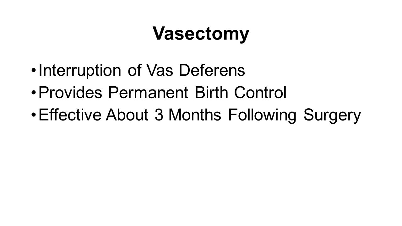 vasectomy and permanent birth control