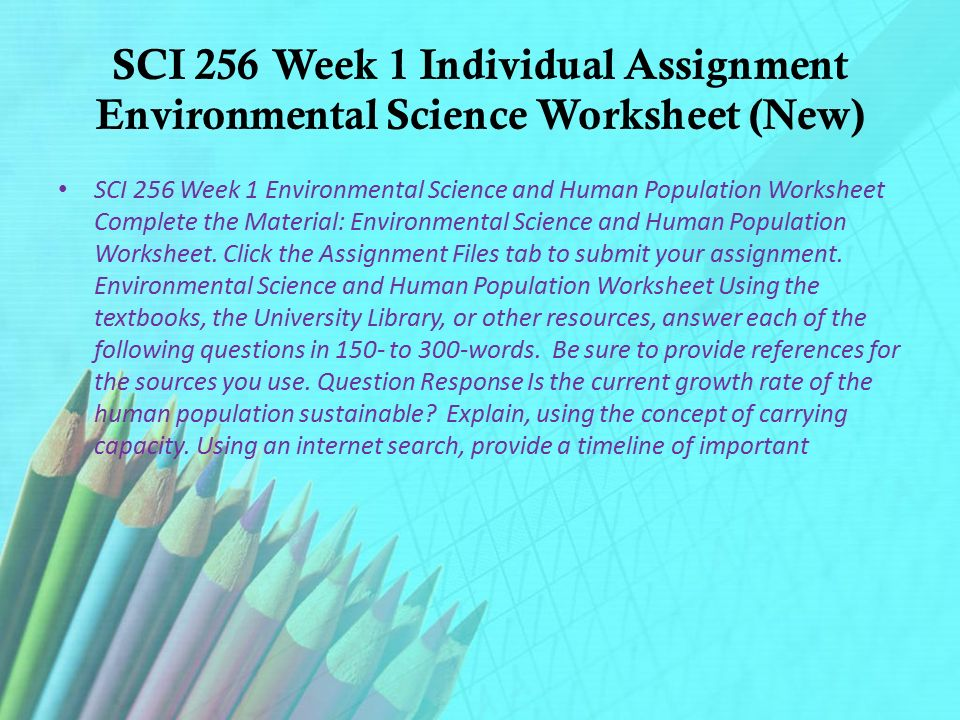 SCI 256 mart Expect Successsci256martdotcom ppt download – Human Population Worksheet