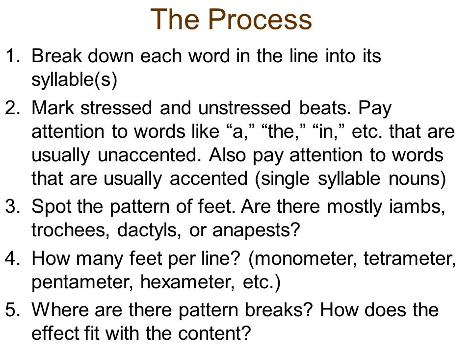 how to break down words
