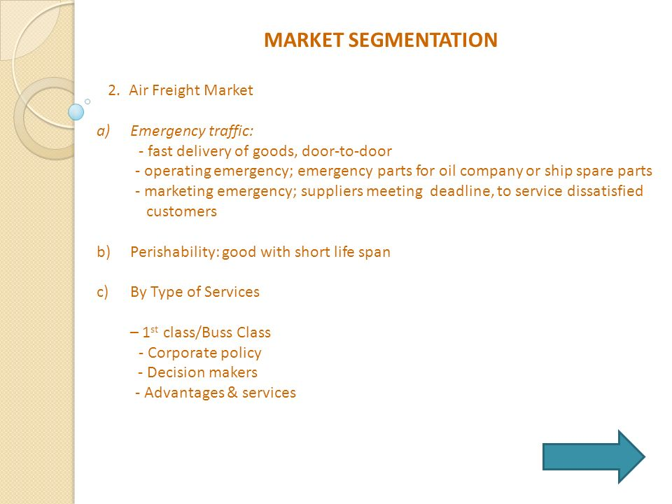 market segmentation for airlines industry Airline industry: segmentation, targeting, and  market segmentation means dividing the market into  there are different ways in which the airlines industry.