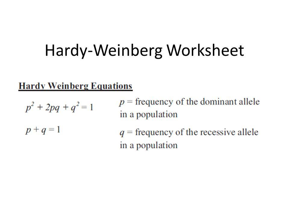 HardyWeinberg Worksheet ppt video online download – Hardy Weinberg Problems Worksheet