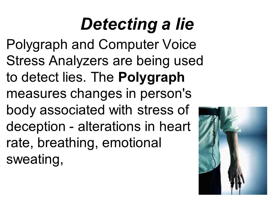 the ethical issues of using polygraphs voice stress analyzers and forensic testing