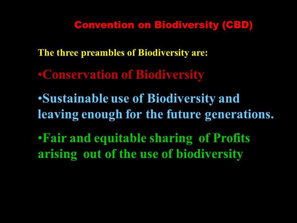 Convention on Biodiversity (CBD)