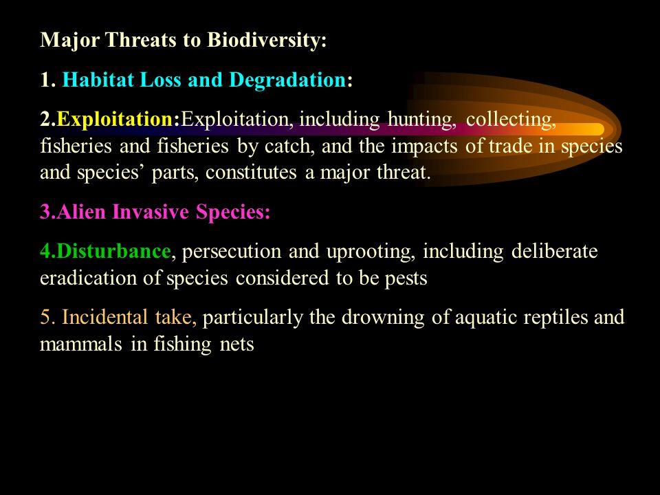Major Threats to Biodiversity: