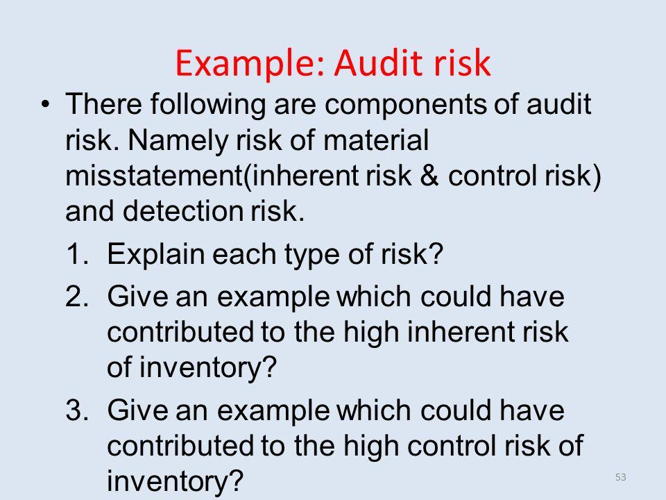 types of audit risk pdf