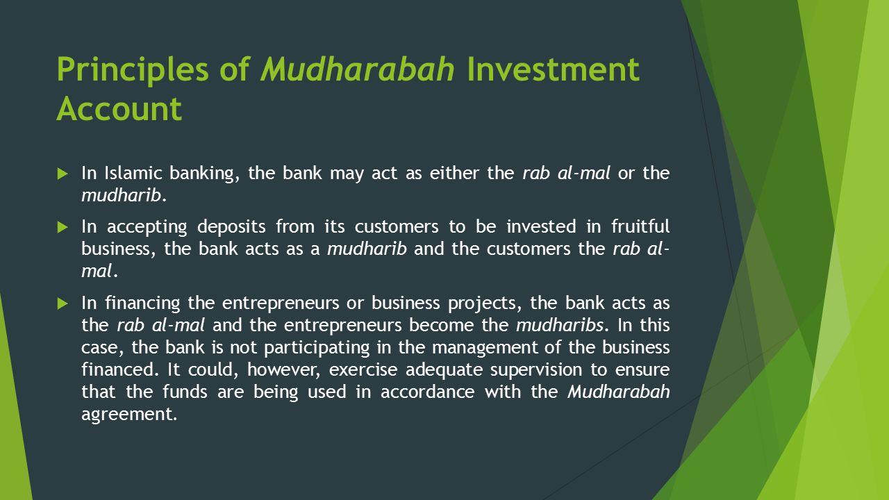 al mudharabah project financing Integrating islamic and conventional project finance  mudharabah (profit-sharing)  al-arabi, al-qurtabi, and al-jassas have allowed it based on their .