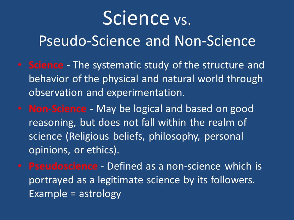 "pseudoscience vs science Continental drift and the more recent science of plate tectonics are now the  a  paleontologist called it ""germanic pseudo-science"" and accused wegener of."