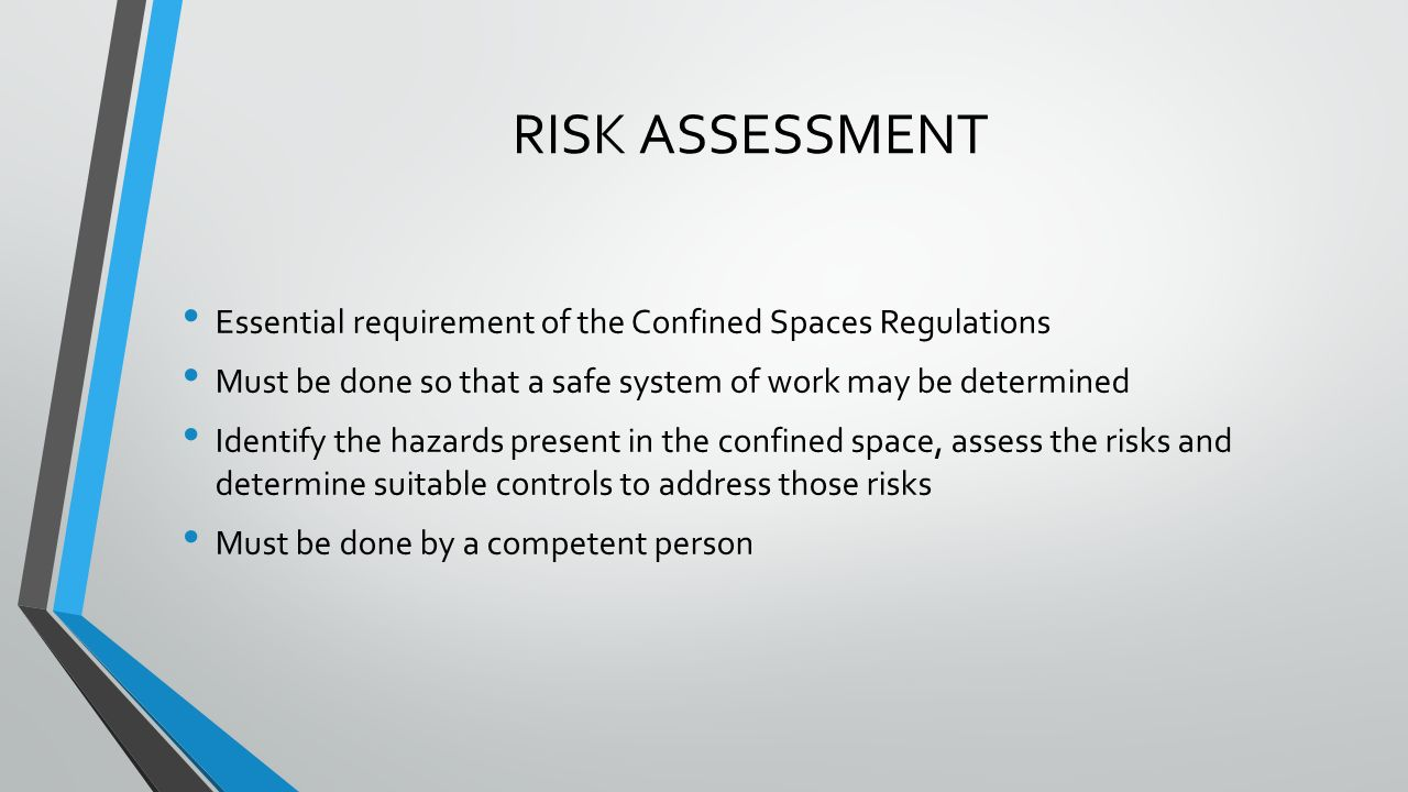 safe system of work A safe system of work is a step-by-step method of carrying out a task that considers the hazards and risks involved and clearly states the control measures required the site.