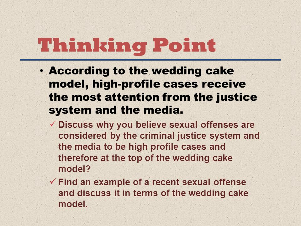 Thinking Point According To The Wedding Cake Model High Profile Cases Receive Most
