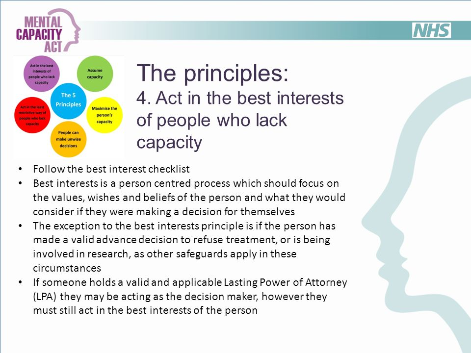 Best interests decisions: professional practices in health ...