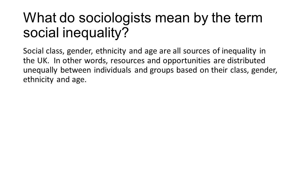 What do you mean by gender inequality