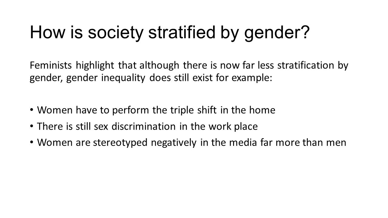 the presence of gender inequality in the society Gender equality part of the solution to challenges in society and help increase gender equality in society of inequality in sweden is that.