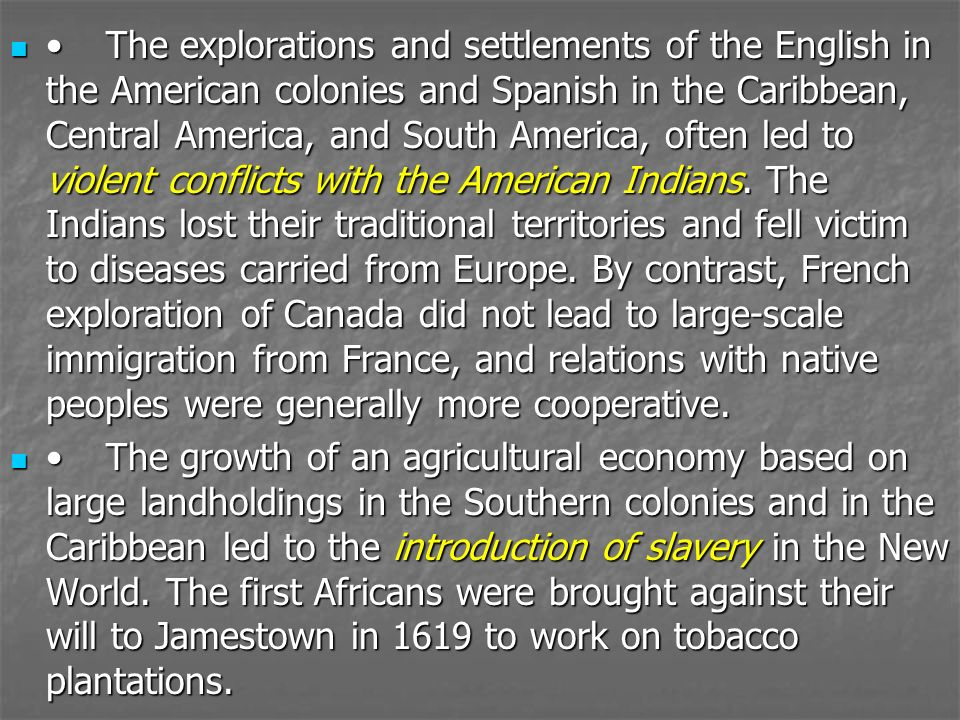 an examination of the development of slavery in the us colonies Slavery and the african slave trade quickly became a building block of the  colonial economy and an integral part of expanding and developing the british.