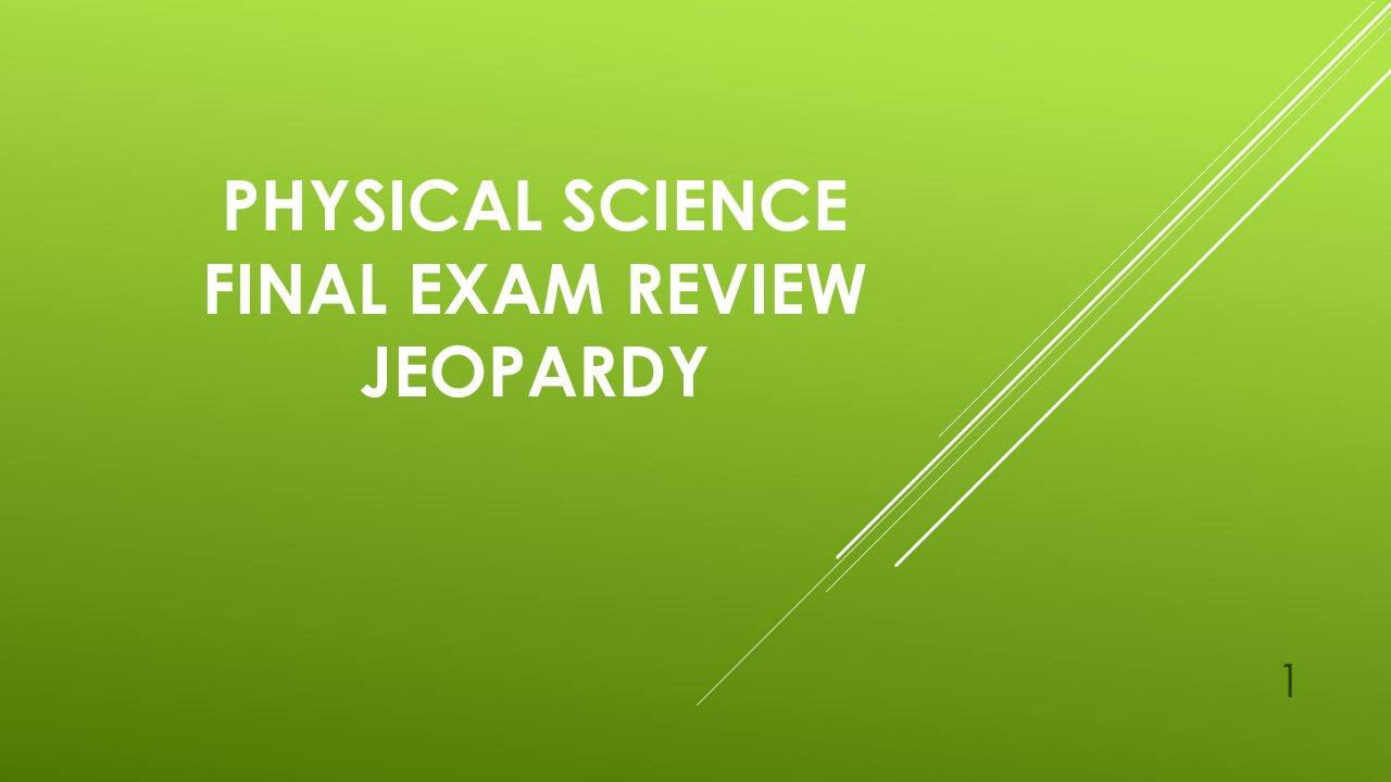 final exam review science