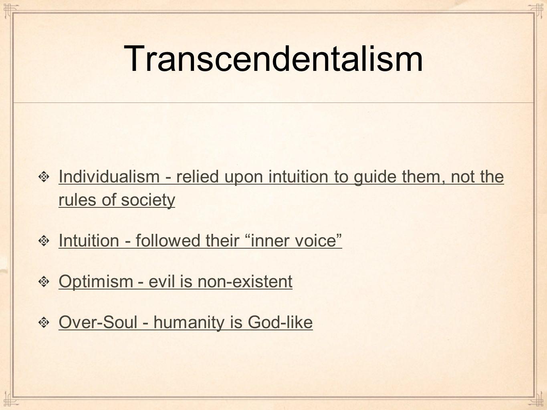 Transcendentalism individualism