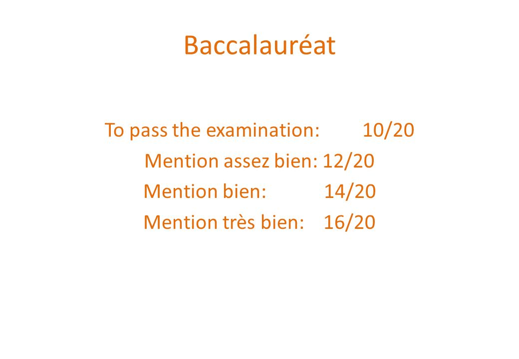 To pass the examination: 10/20