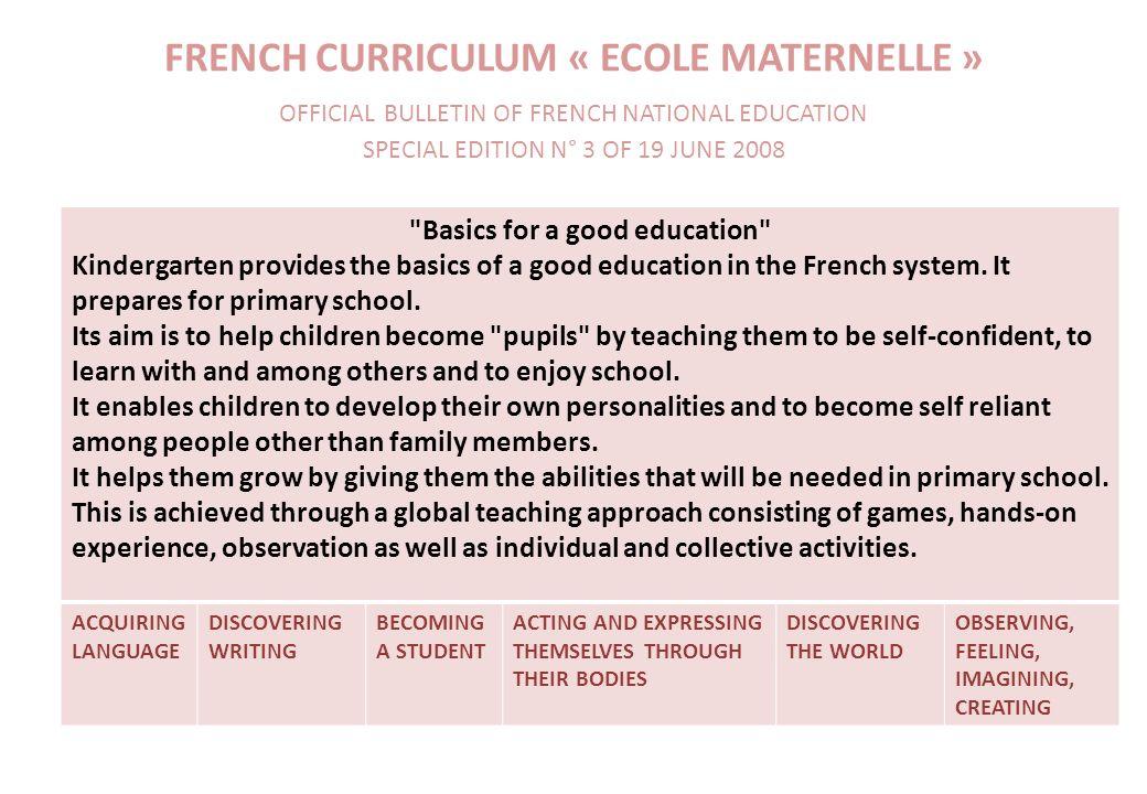 Basics for a good education