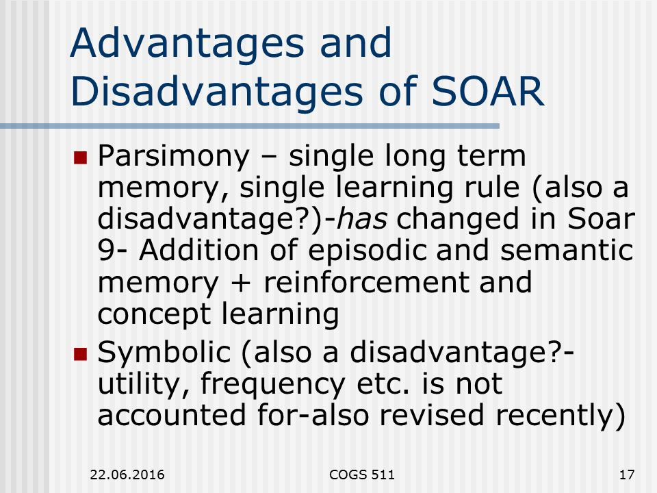 short term and long term memory advantage and disadvantage Long-term scheduling performs a gatekeeping function it decides whether there's enough memory, or room, to allow new programs or jobs into the system.
