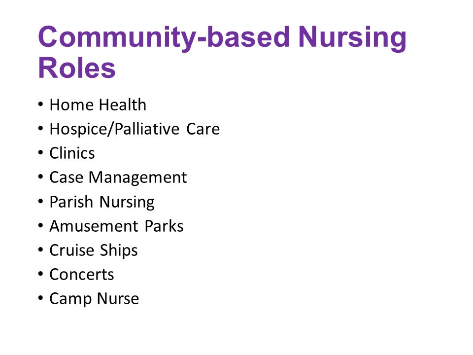 Nurs 432 Nursing Care In The Community Ppt Video Online