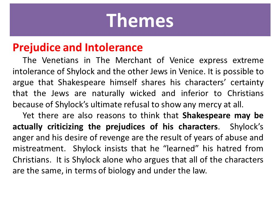 Merchant of venice shylock analysis