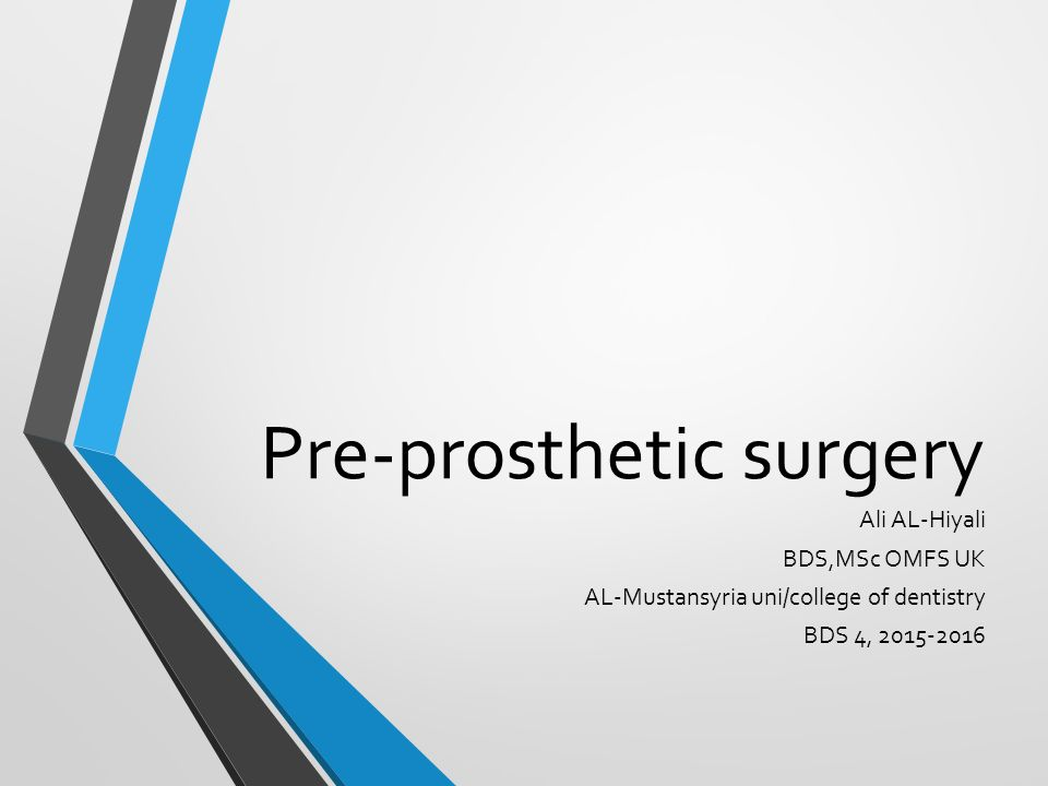 prothesis surgery