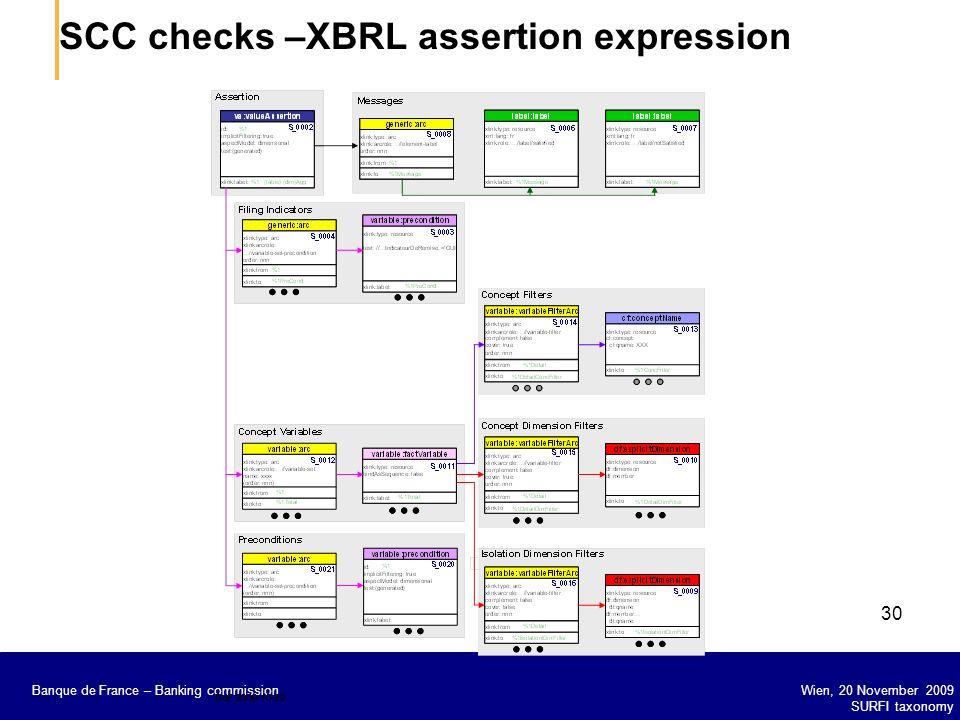 SCC checks –XBRL assertion expression