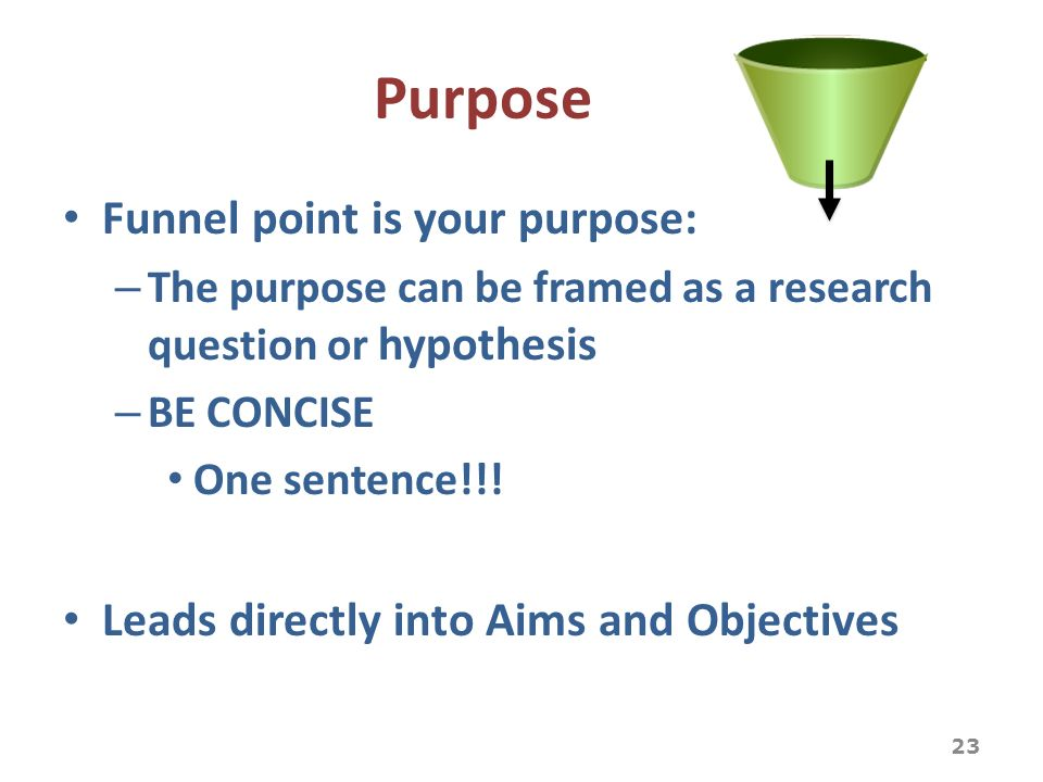 aims and objectives of a research paper