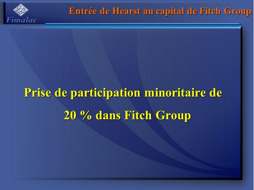 Entrée de Hearst au capital de Fitch Group