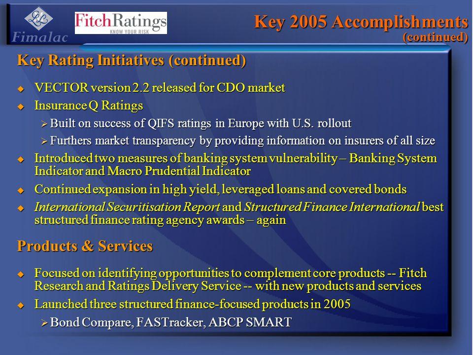 Key 2005 Accomplishments (continued)