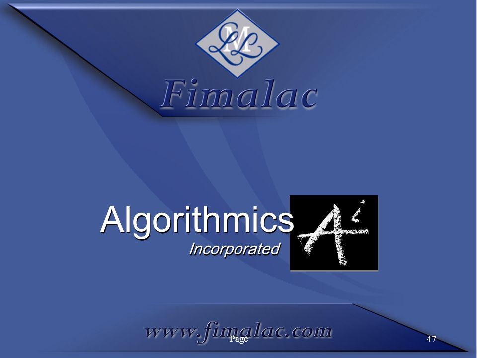 Algorithmics Incorporated Page