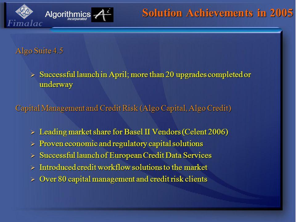 Solution Achievements in 2005