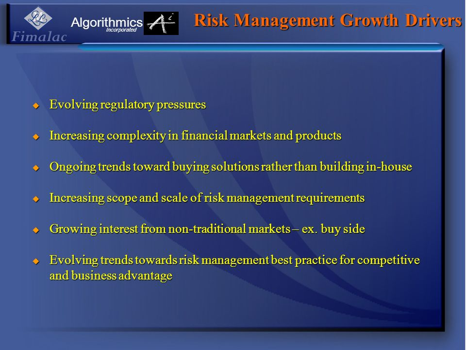 Risk Management Growth Drivers