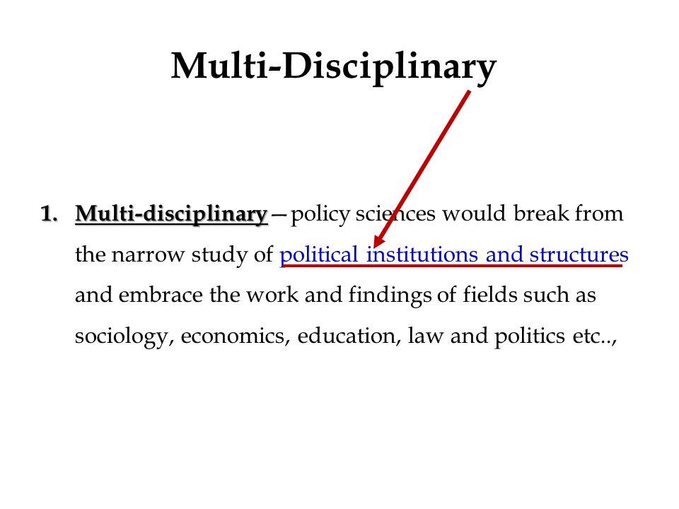 Multi-Disciplinary Working Essay