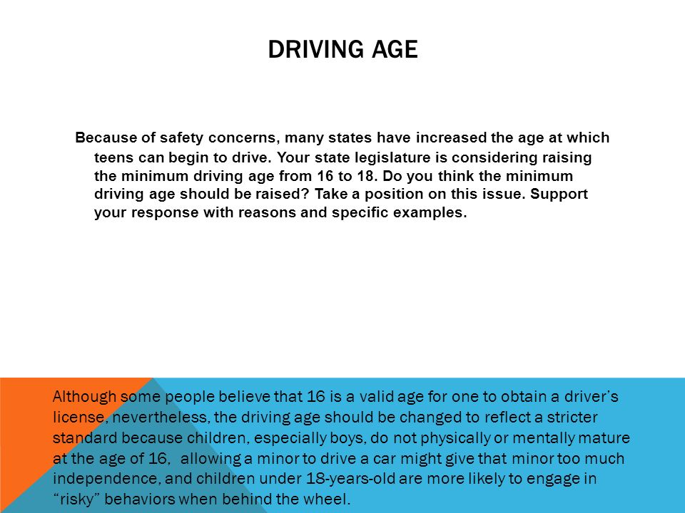 changing driving age The recently introduced proposal could lower the age requirements for interstate truck drivers.