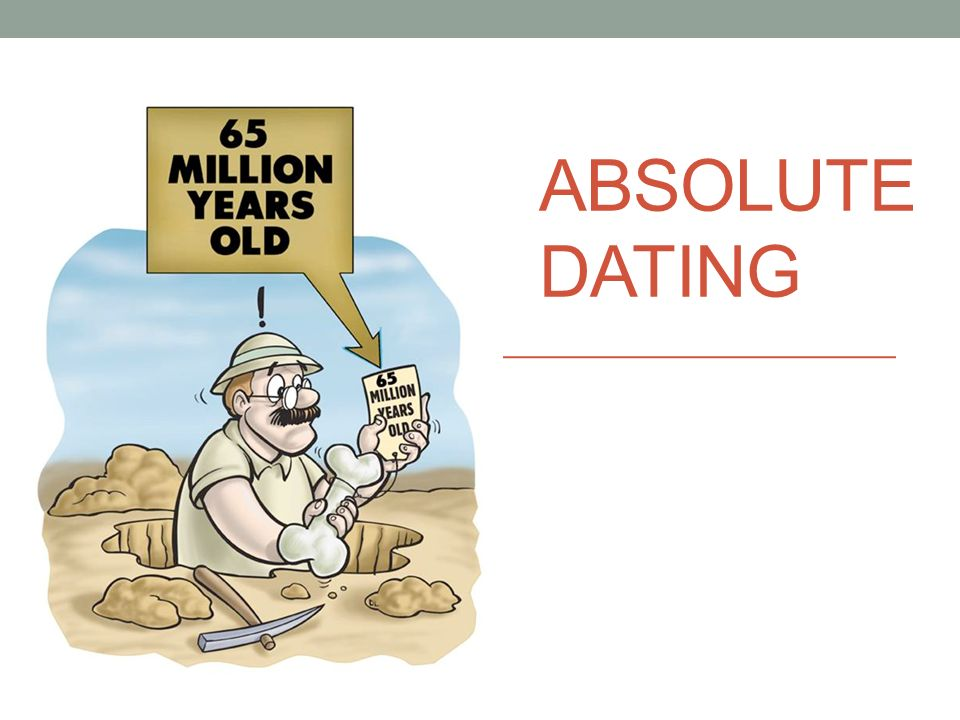 relative dating and absolute power point