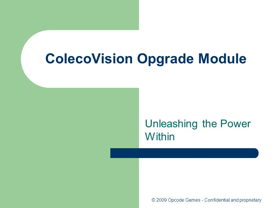 ColecoVision Opgrade Module