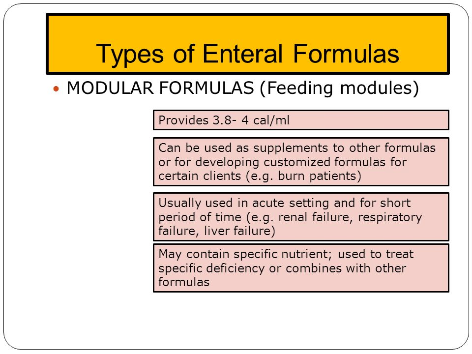 enteral and parenteral feeding guidelines