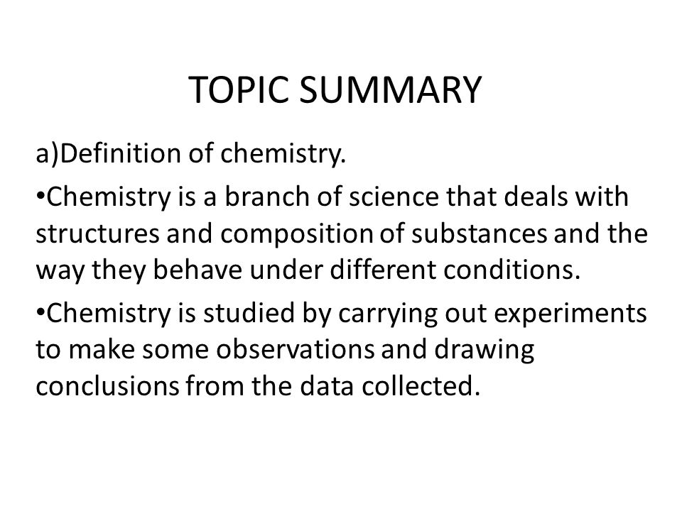 Chemistry: Observation Of Various Experiments