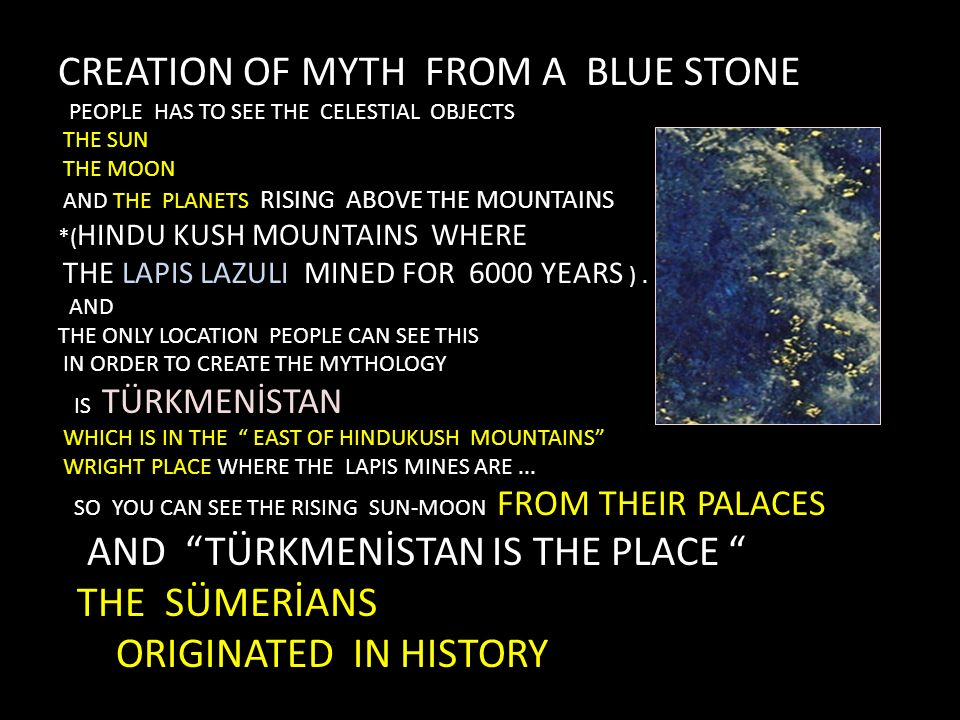 CREATION OF MYTH FROM A BLUE STONE