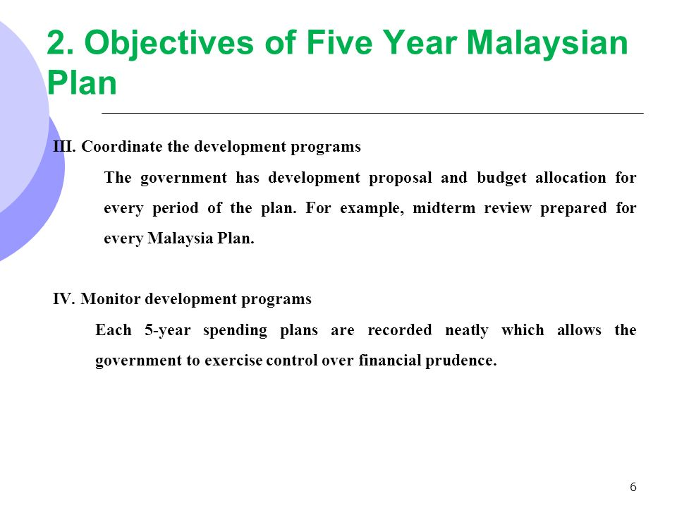 the 5 year development plan in malaysia economics essay Evaluation of rostow's five stages of economic growth model  a level economics year 1  a level economics development economics study notes.