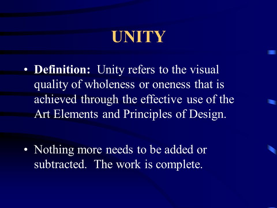 Visual Elements Definition : The art principles are ways in