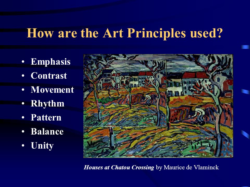 Unity And Balance In Art : The art principles are ways in