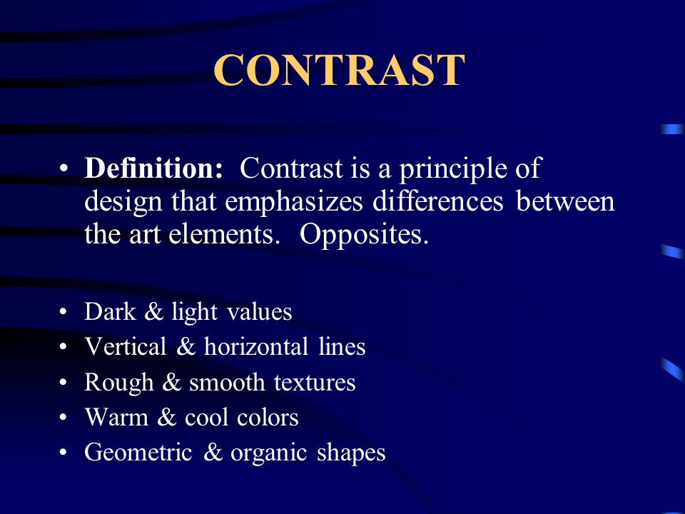 Elements And Principles Of Design Contrast : The art principles are ways in