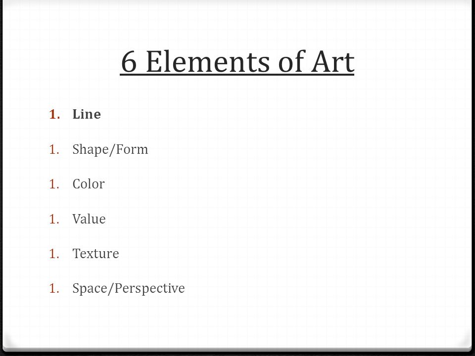 Line Color Form : Elements and principles of art ppt video online download