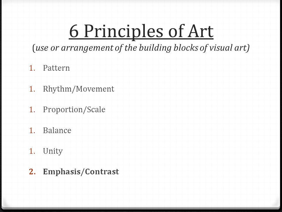 Six Principles Of Art : Elements and principles of art ppt video online download