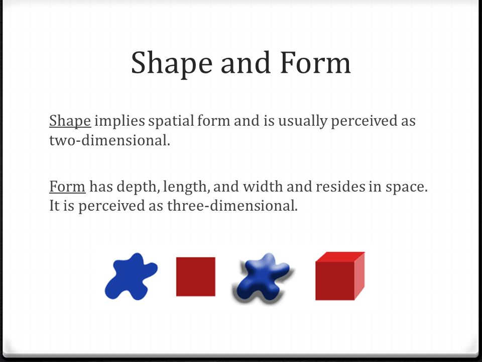 Form Shape And Space : Elements and principles of art ppt video online download