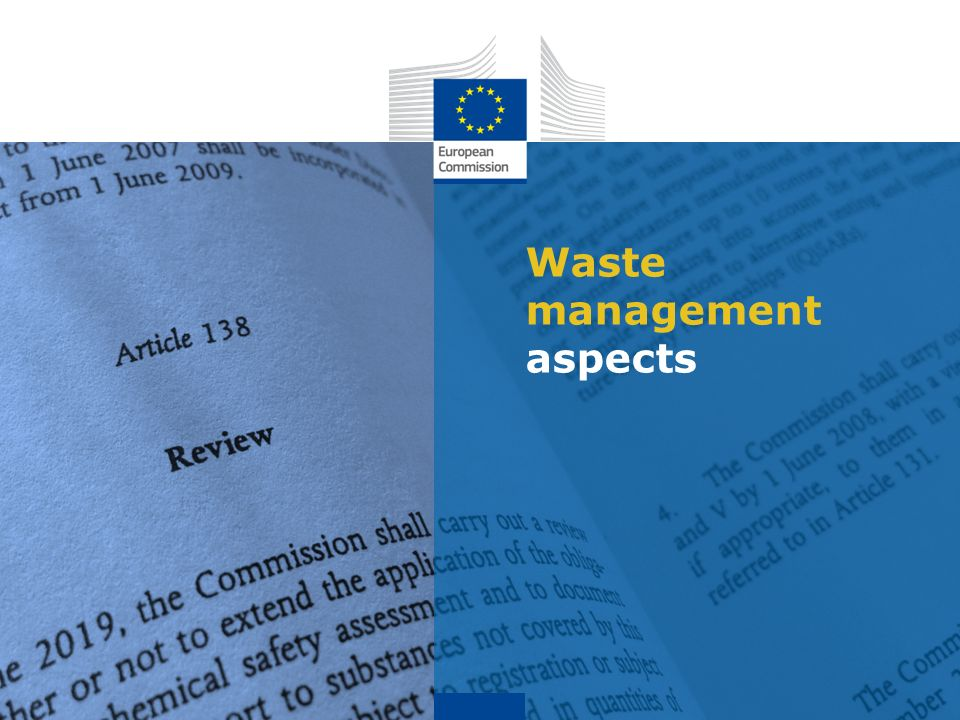 Waste management aspects