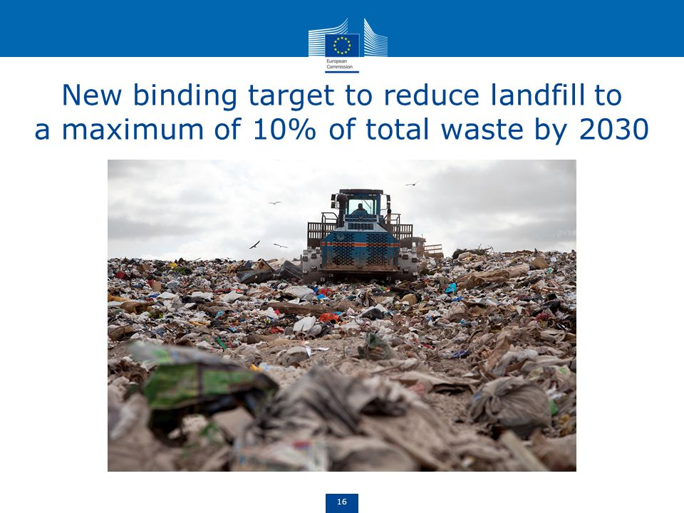 New binding target to reduce landfill to a maximum of 10% of total waste by 2030