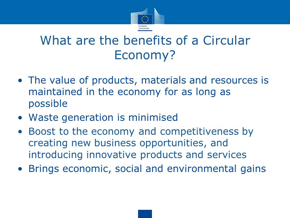 What are the benefits of a Circular Economy